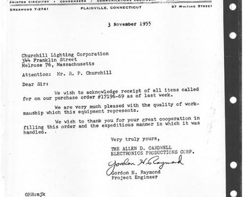 Letter - Allen D. Cardwell